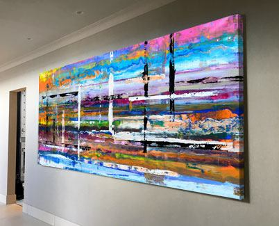 large colourful abstract art