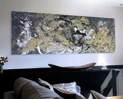 gold black painting