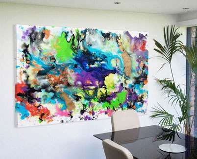 Multi-coloured-abstract-art