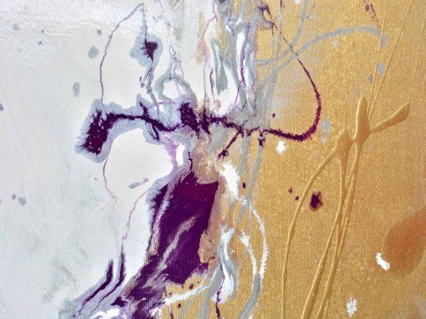 gold enamel paint splashes