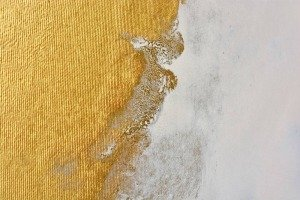 metallic gold and white paint