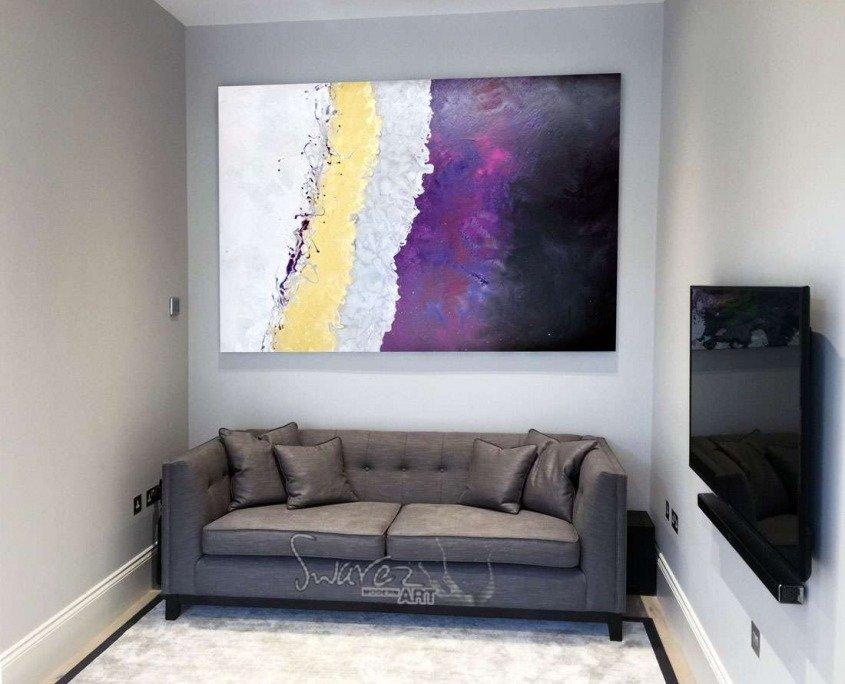 sofa and rectangular painting