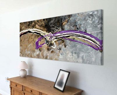 purple and gold painting