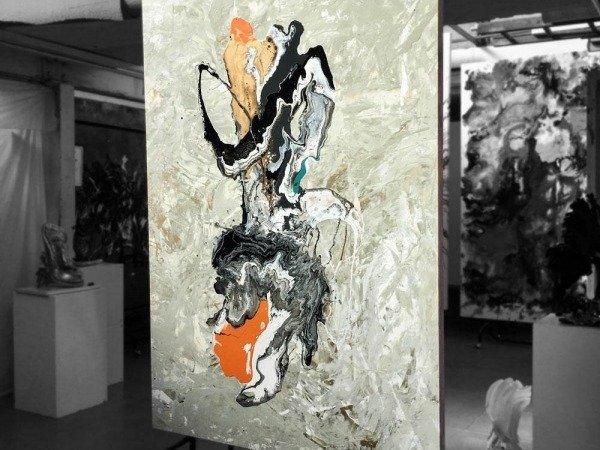 tall-contemporary-art-original-in-orange