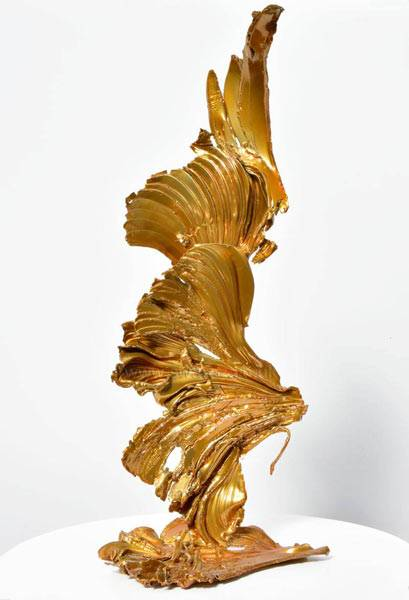 gold metal sculpture