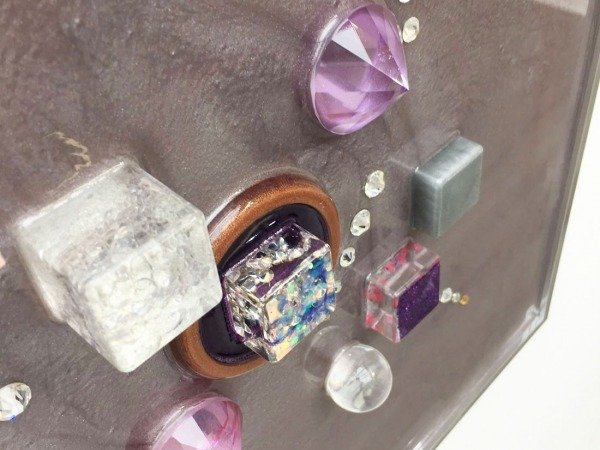 multi coloured resin blocks