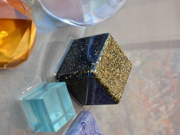black resin cube