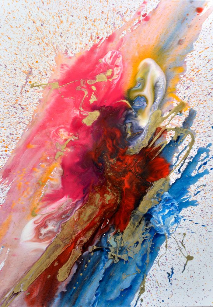 abstract multi coloured art