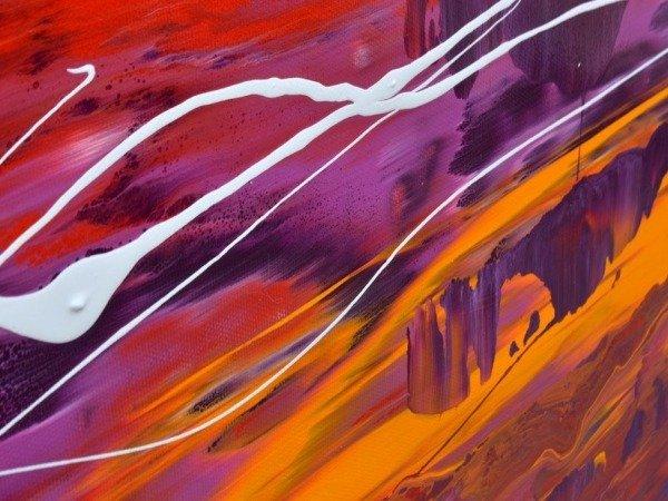 orange purple paints