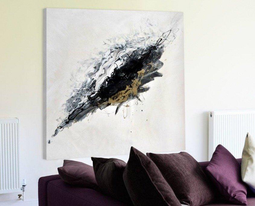 white black gold art