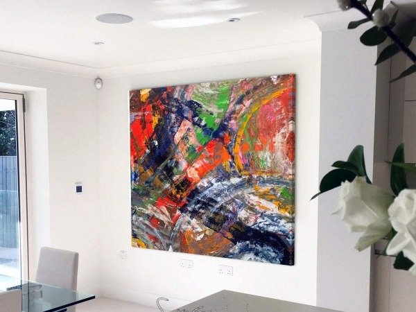 big square modern painting by Swarez