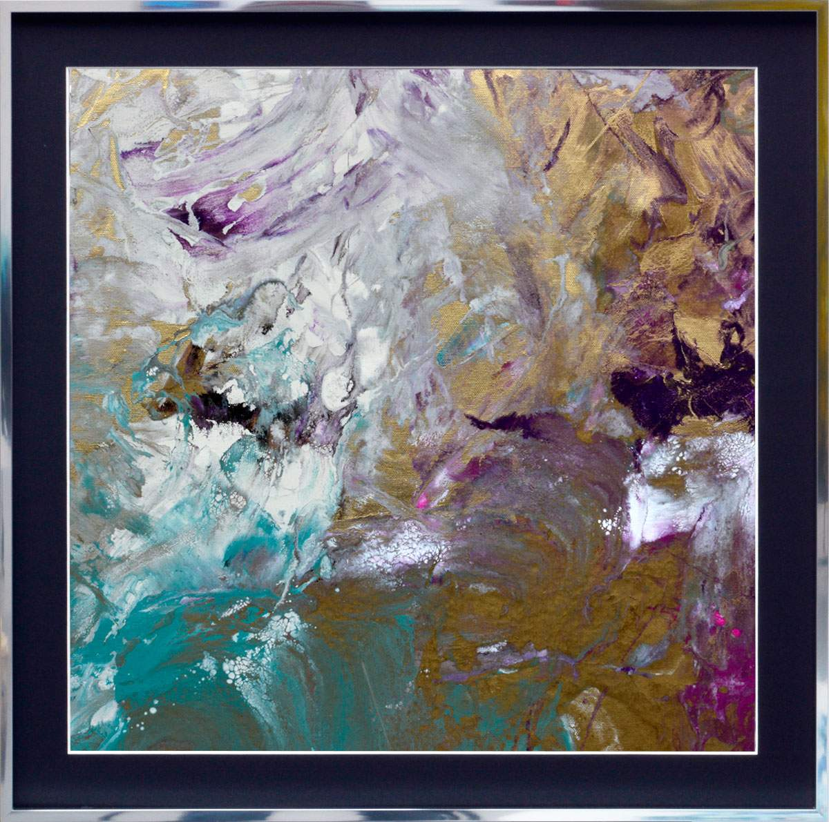 gold purple art