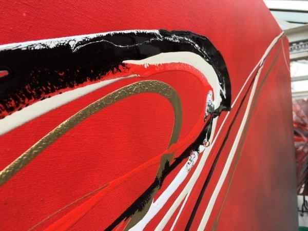 minimal red and black art