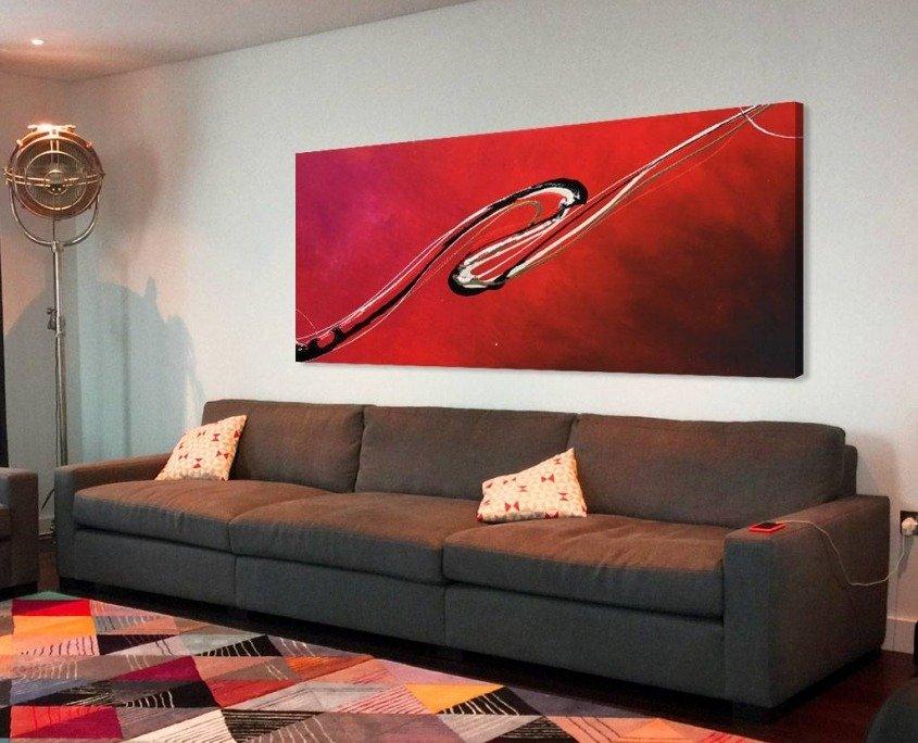 red modern art