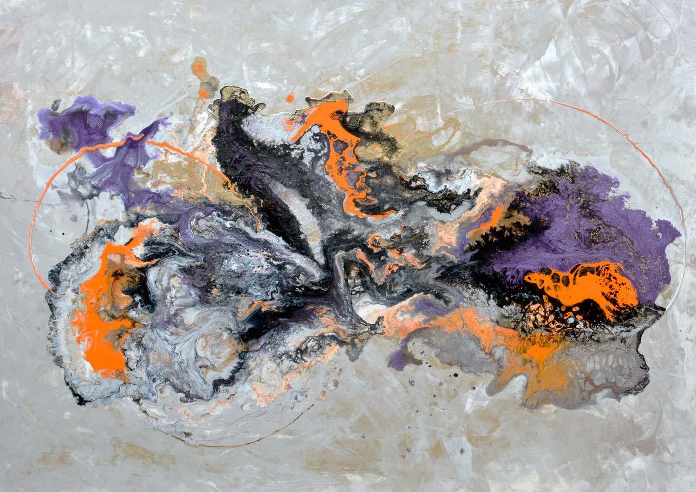 purple metallic paints with orange