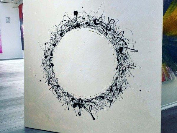 square minimal black and white art