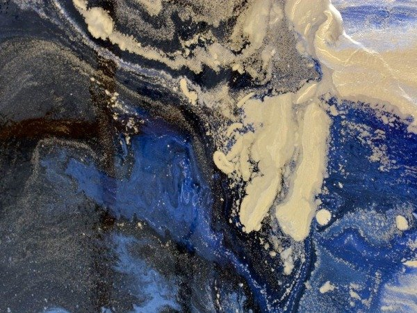 blue and black abstract art