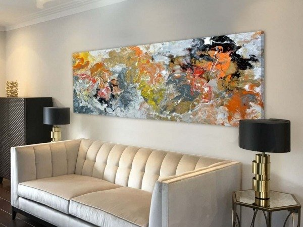 orange abstract painting