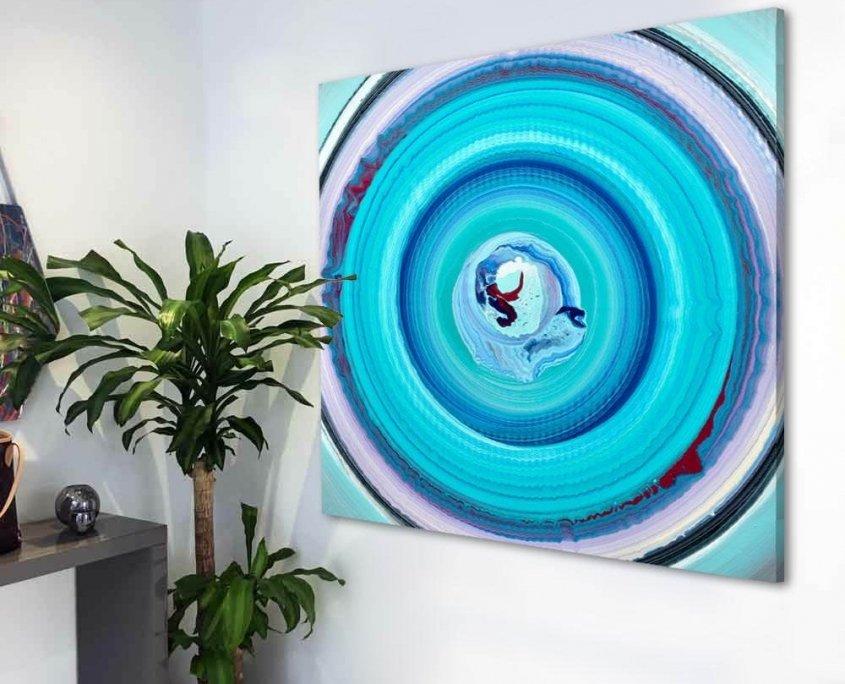 blue spin art
