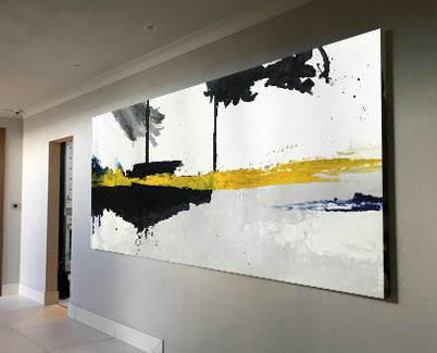 yellow and black art