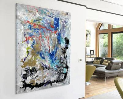 large art in a room
