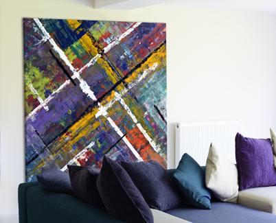 large square modern art