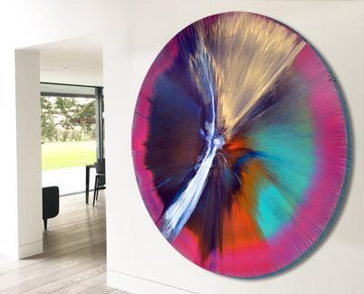 huge circular painting