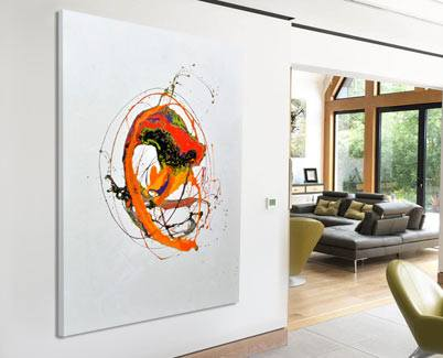 orange contemporary art