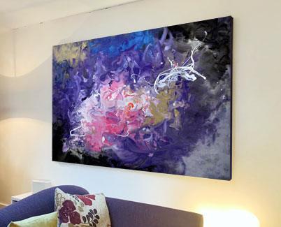 Stream of Conciousness purple art