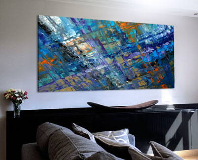large blue original art