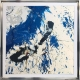 Blue and white abstract painting - Atlantica 2
