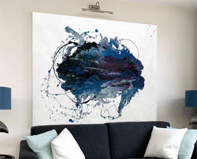 blue purple art