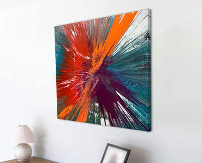 orange and purple abstract art