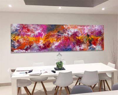 pink and orange modern art